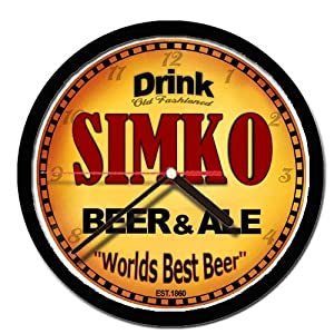 SIMKO beer and ale cerveza wall clock
