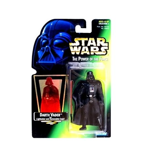 Star Wars, Power of the Force Green Card, Darth Vader Action Figure, 3.75 Inches