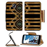 Motorola Google Nexus 6 Flip Pu Leather Wallet Case Digital art photo collage technique geometric abstract egyptian style background in IMAGE 34806668 by MSD Customized Premium