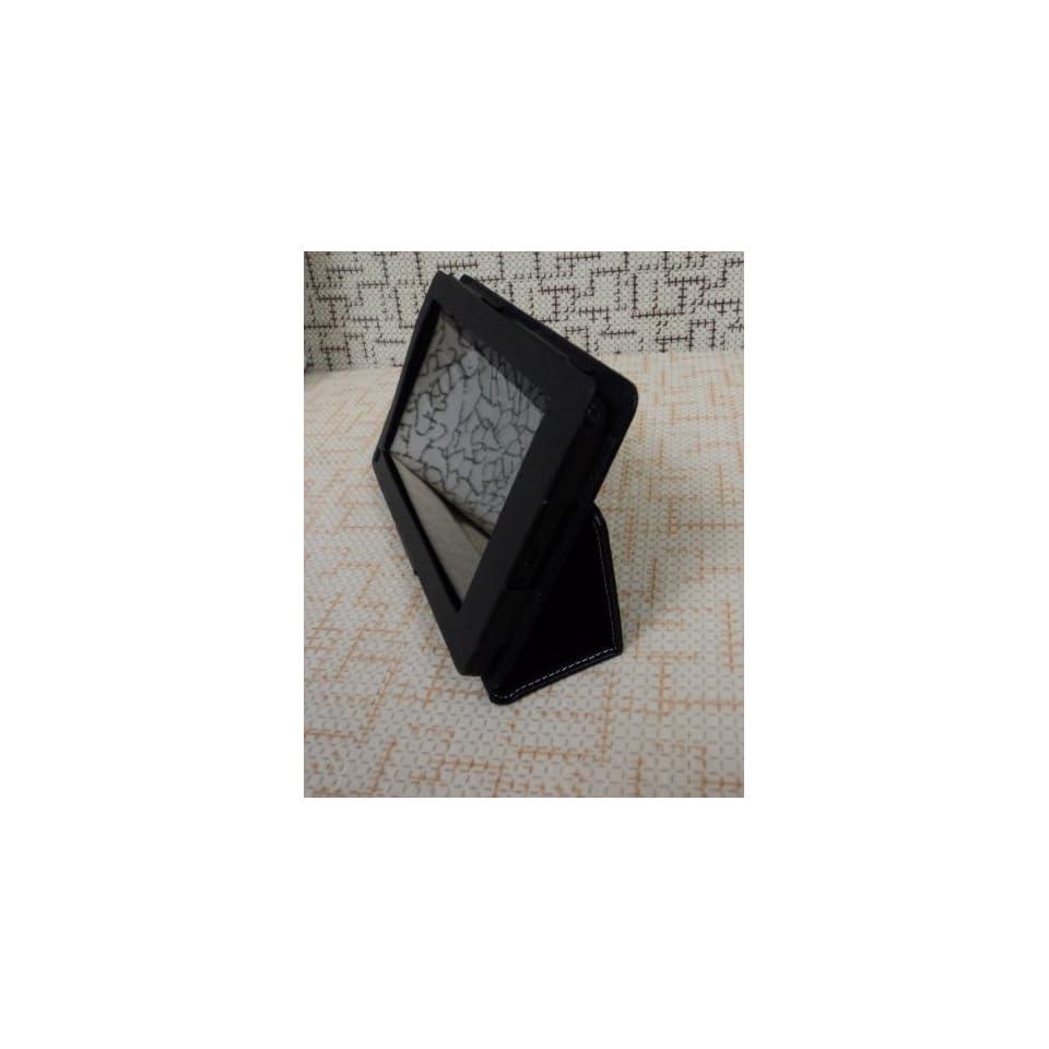 JustCase Elegance Genuine Leather Kindle Fire Cover Case (Dark Blue)