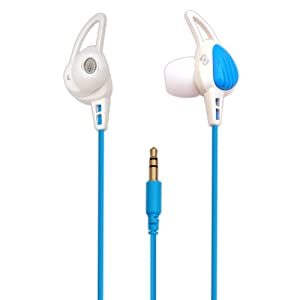 Auriculares Pyle PWP15W impermeables color Blanco y Azul.
