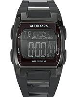 All Blacks - 680024 - Montre Homme - Quartz Digital - Cadran Noir - Bracelet Plastique Noir