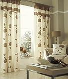 Catherine Lansfield DSB2-2264-WPP6654-NATUR 66 x 54 cm Floral Trail Pencil Pleat Curtains, Nature
