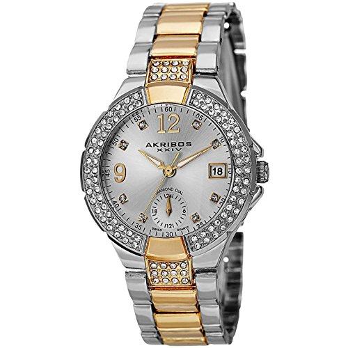 Akribos XXIV AK775TTG 34.5mm Metal Case Multicolor Metal Mineral Women's Watch