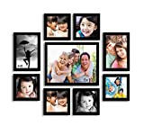 Painting Mantra Onmium black Photo frame - Set of 9 individual wall photo frames