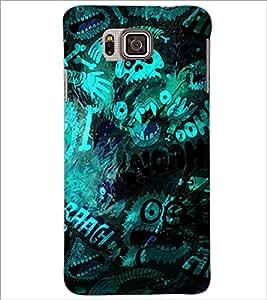 PrintDhaba Graffiti D-3907 Back Case Cover for SAMSUNG GALAXY ALPHA (Multi-Coloured)