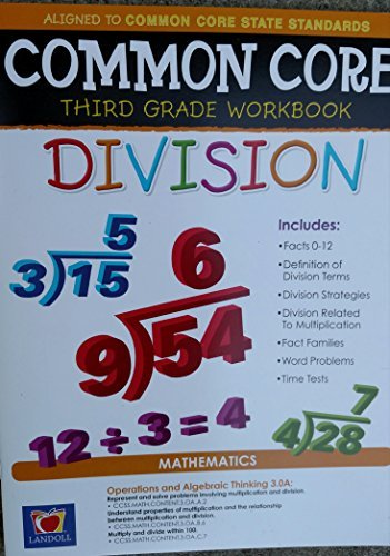 Common Core Division Third Grade Workbook - 1