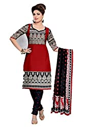 Riddhi Dresses Women's Cotton Unstitched Dress Material (Riddhi Dresses 80_Multi Coloured_Free Size)
