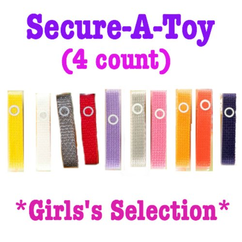 Baby Buddy Secure-A-Toy Strap - 4 count (GIRLS)