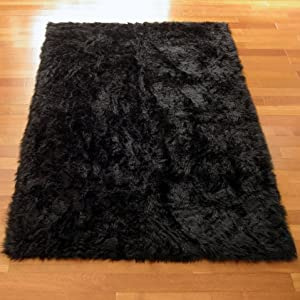 Amazon.com: Classic Black Bear Faux Fur Rectangle Rug - NEW Made in