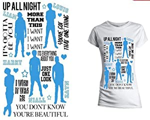 One Direction - Silhouettes Girly Fit T-shirt