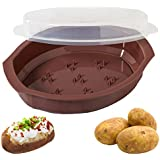Progressive International Microwavable Potato Cooker with Lid (BROWN)