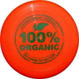 Eurodisc 175g Ultimate Frisbee Flying Disc 98% ORGANIC MATERIAL - BRIGHT ORANGE
