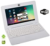 Best Selling Netbooks:  WolVol WHITE 10 inch Laptop with WIFI and Camera (Android 4.2, Dual Core Processor, 8 GB HD)