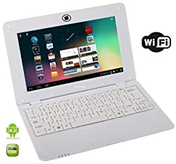 WolVol WHITE 10 inch Laptop with WIFI and Camera (Android 4.2, Dual Core Processor, 8 GB HD)