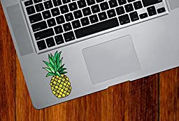Pineapple Stained Glass Style - Trackpad   Laptop   Gaming Console - Vinyl Decal Sticker © 2015 Yadda-Yadda Design Co. (1.5\