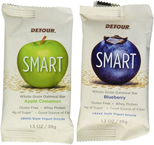 Detour Smart Whole Grain Oatmeal Bar Variety Pack 1.3oz (14 ct) (Oatmeal Protein Bars compare prices)