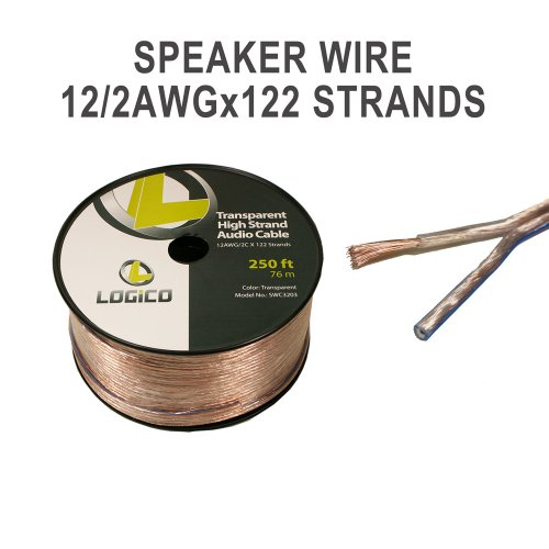 12-Gauge Speaker Wire - Audio Cable 250 Feet