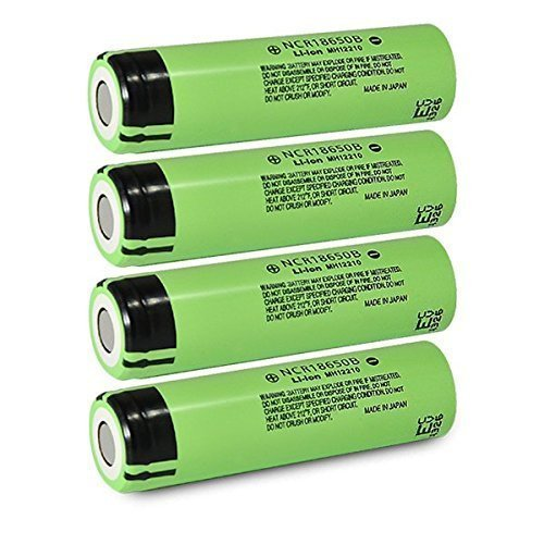 4pcs Panasonic 18650 Battery 3400mAh NCR18650B 3.7V Rechargeable Li-ion Battery with Free Charger and Battery Case (Panasonic 3400mah Ncr18650b compare prices)