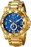 Invicta 15329 49.5mm Gold Steel Bracelet & Case flame fusion Men's Watch