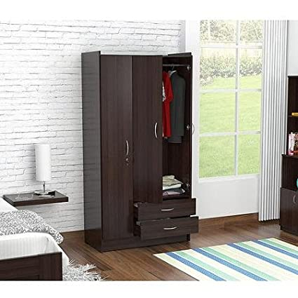 Inval Three Door Wardrobe/Armoire, Espresso-Wengue Finish