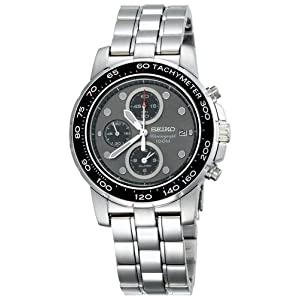 Click to buy Seiko Watches for Men: SNAA63 Alarm Chronograph Silver-Tone Watch from Amazon!