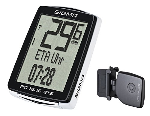 Sigma BC 16.16STS Computer da bicicletta, colore: nero, taglia unica