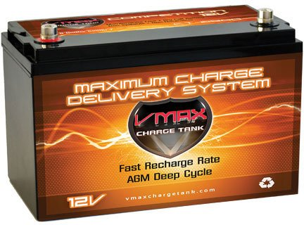 Vmaxtanks Vmaxslr125 AGM Deep Cycle 12v 125ah Battery for Use with Pv Solar Panels
