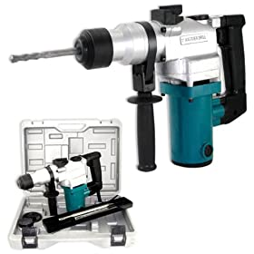 "1"" Rotary Hammer Drill Combo, Chisel, Drill, Tool"