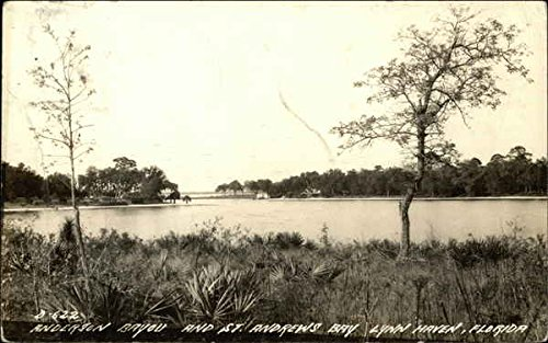 Anderson Bayou and St. Andrews Bay in Lynn Haven, Florida Postcard, 1944