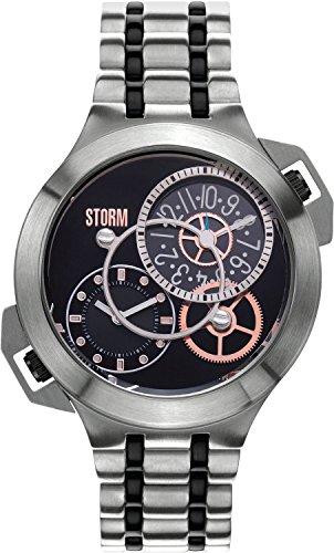 Storm 47157/BK - Orologio da polso da uomo, cinturino in acciaio inox colore argento