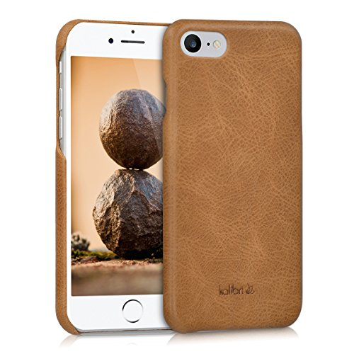 kalibri-Echtleder-Backcover-Hlle-fr-Apple-iPhone-7-Leder-Case-Cover-Schutzhlle-in-Cognac