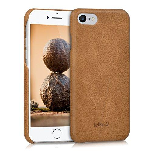 kalibri-Echtleder-Backcover-Hlle-fr-Apple-iPhone-7-Leder-Case-Cover-Schutzhlle-in-Cognac