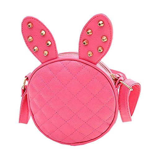 [Top Shop Womens Leather Mini Rabbit Shoulder Handbags Cross-body Messenger Bag Rosered Hobos] (Dora Diego And Boots)