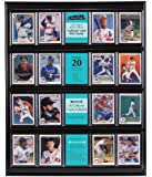 MCS 52894 Collector Card 16x20 Wall Display, Holds 20 Sports Cards with Black Frame