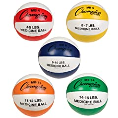 Buy Champion Sports Leather Medicine Ball Set of Five by Champion