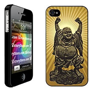 iPhone 4/4s Case - Buddha - Black Protective Phone Case