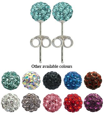 ONE Pair of Crystal Stud Earrings By Glitz Jewelz © - 1/4