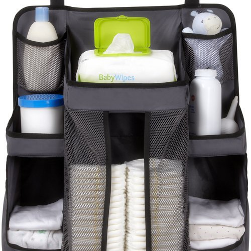 Lowest Prices! Dexbaby Diaper Caddy and Nursery Organizer for Baby's Essentials, Gray