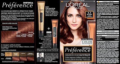 prfrence l39oral paris coloration permanente 45 marron acajou intense - Coloration Temporaire L Oreal