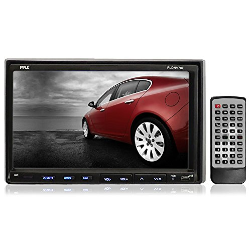 Pyle PLDNV78I 7-Inch Double-DIN Touchscreen LCD Monitor with DVD/CD/MP3/MP4/USB/SD/AMFM/RDS/Bluetooth and GPS (Discontinued by Manufacturer)