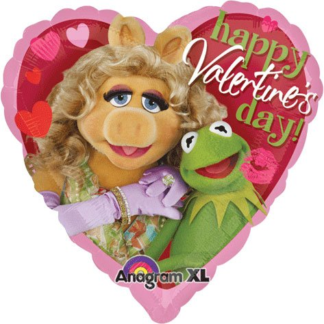 Amscan International Muppets Valentines Day Foil Balloon