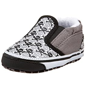 Me In Mind Infant/Toddler 808 Slip On With Checks And Skulls