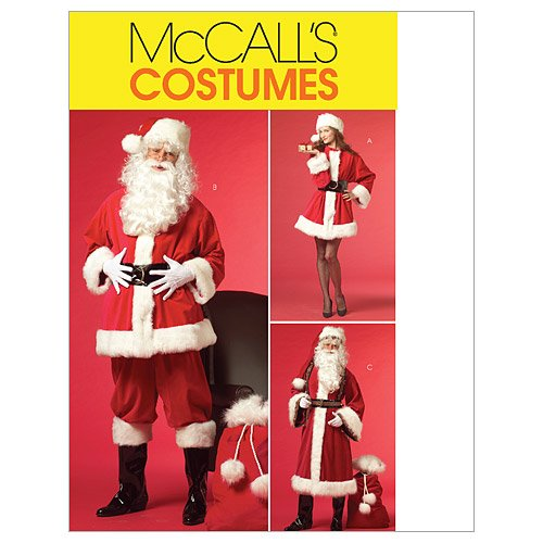 Mccall'S Patterns M5550 Misses'/Men'S Santa Costumes And Bag, Size Xn (Xlg-Xxl-Xxxl) front-84602