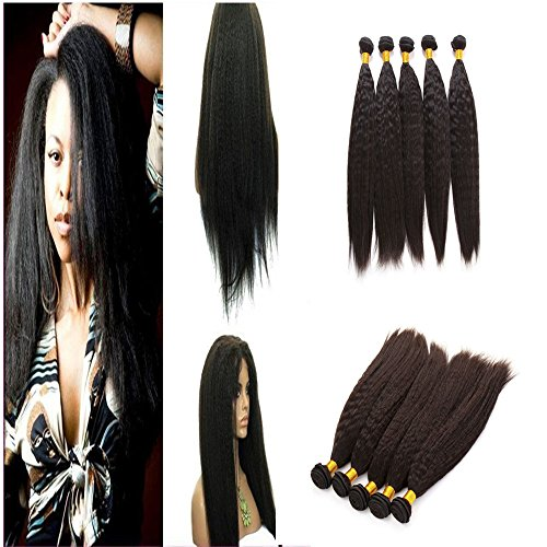 E-forest-hair-Weave-For-Women-7A-Virgin-100-Brazilian-Remy-Human-Hair-WeftWeave-Extension-Kinky-Straight-Natural-Black-3-Bundles-300g-WF-01-Size-10-10-10