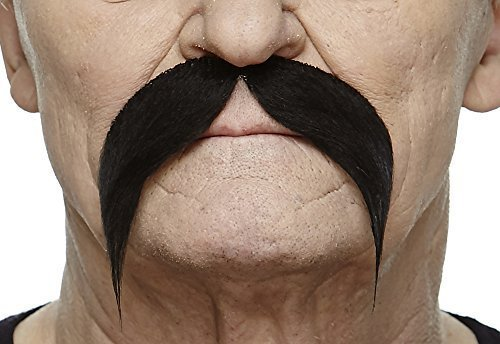 Rich uncle black moustache