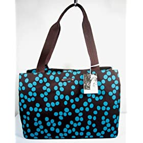Kate Spade Aubrey Bubble Blue Brown Baby Diaper Bag