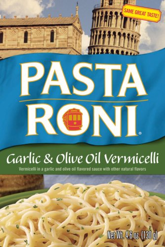 Pasta Roni Garlic &amp; Olive Oil Vermicelli Mix, 4.6-Ounce Boxes (Pack of 12) by 