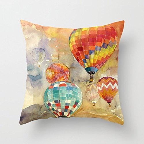 16 X 16 Inches / 40 By 40 Cm Watercolor Pillowcase,both Sides Is Fit For Birthday,bench,teens,home Theater,floor,couch