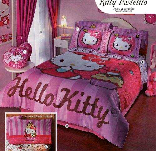 Hello Kitty Pastelito 6 Piece Comforter Set -Full front-5588